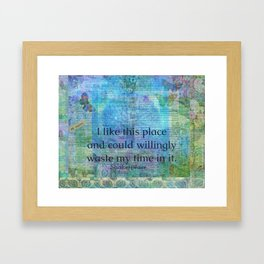 Shakespeare humorous quote Framed Art Print