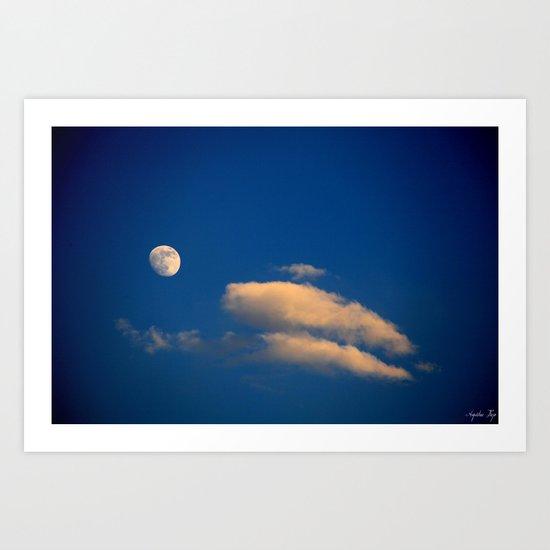 Gibbous Moon Art Print