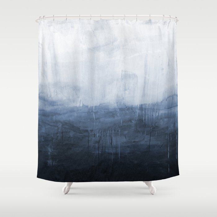 the storm ocean painting shower curtain by andrealauren. Black Bedroom Furniture Sets. Home Design Ideas