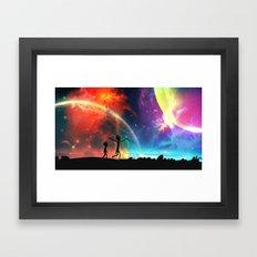 wubba lubba dub dub Framed Art Print