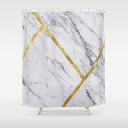 Golden classic marble Shower Curtain