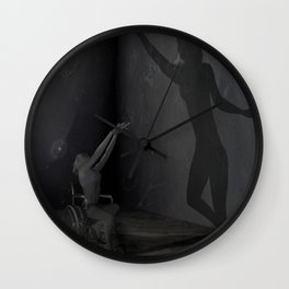 Embrace my shadow Wall Clock