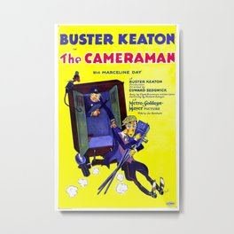 Vintage poster - The Cameraman Metal Print