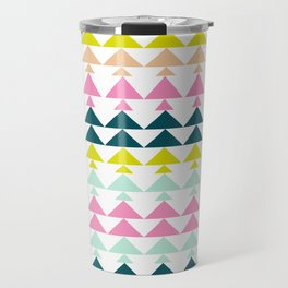 Triangle Pattern in Cheerful Bright Holiday Colors Travel Mug