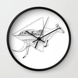 Lucky Bay Kangaroo Wall Clock