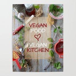 Vegan food - vegan kitchen English version Poster