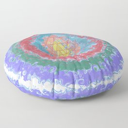 Be Like Water Sri Yantra Floor Pillow