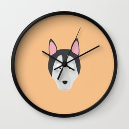 Cute Dog Face T-Shirt for Women, Men and Kids Wall Clock