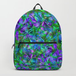 Floral Abstract Stained Glass G295 Backpack