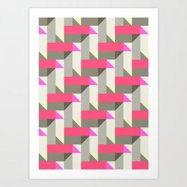 Herringbone geometric Art Print