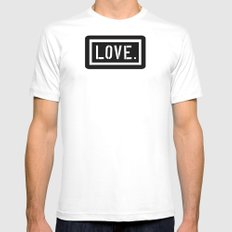 Love Stencil MEDIUM White Mens Fitted Tee