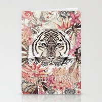 tiger Stationery Cards featuring TIGER by Monika Strigel®