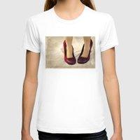 heels T-shirts featuring Purple Suede Snakeskin Heels by Tangerine-Tane