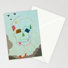 flying skull Stationery Cards