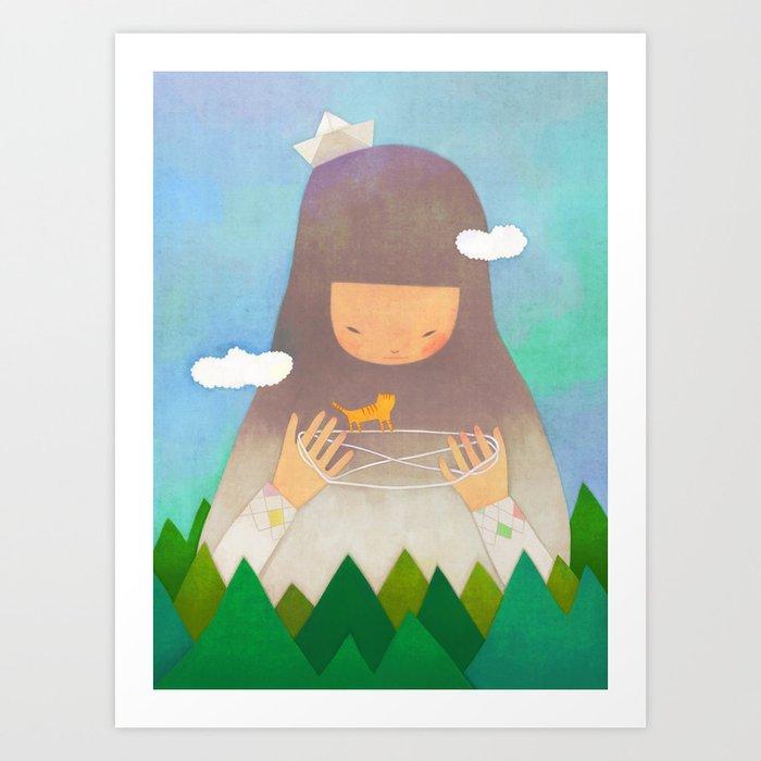 Forest giant Art Print