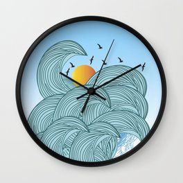 sea wave 4 Wall Clock