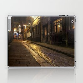 Cobbles street at night Laptop & iPad Skin