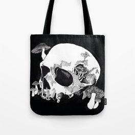 Skull & Mushrooms Tote Bag