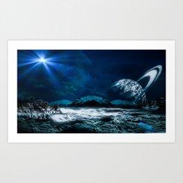Silver Sky Art Print