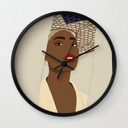 Jana woman illustration  Wall Clock