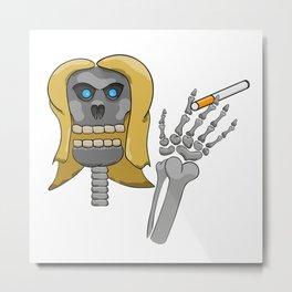 skeleton with cigarette Metal Print