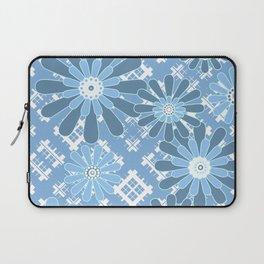 Light blue floral pattern Laptop Sleeve