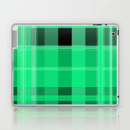 Shades of Green and Black Plaid Laptop & iPad Skin