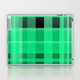 Shades of Green and Black Plaid Laptop & iPad Skin
