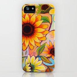 Sunflower Power 1 iPhone Case