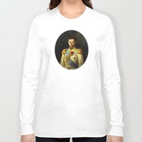 tom hiddleston Long Sleeve T-shirts featuring Tom Hiddleston 001 by TheTreasure