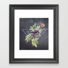 I couldn't give a Fig Framed Art Print
