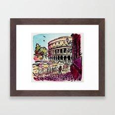 Ciao Mamma! - Colosseo, Roma Framed Art Print