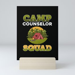 Camp Counselors Squad Camping graphic | Gift For Camp Staff Mini Art Print