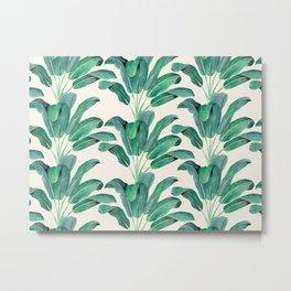 Tropical Glam Banana Leaf I Metal Print
