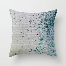 Tickle Me Teal Throw Pillow