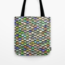 Iridescent Dragon Scales Tote Bag