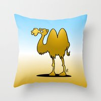 camel Throw Pillows featuring Camel by Cardvibes.com - Tekenaartje.nl