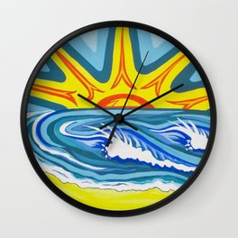 Surfers Summer Days Wall Clock