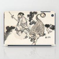 bouletcorp iPad Cases featuring Old Man & Ankylosaurus by Bouletcorp