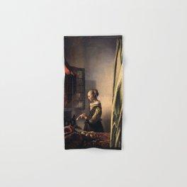 Johannes Vermeer - Girl Reading a Letter at an Open Window Hand & Bath Towel