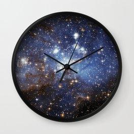 Cosmic Blues (Large Magellanic Cloud) Wall Clock