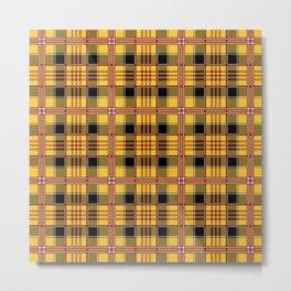 Yellow plaid Metal Print