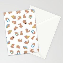 cute dog makkachin yuri on ice pattern Stationery Cards