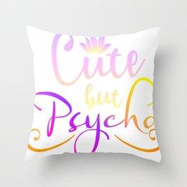 Cute BUu Psycho Throw Pillow