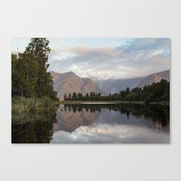 New Zealand Lake at sunset Canvas Print