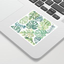 Tropical leaves Monstera leaves Jungle leaves Palm leaves Sticker