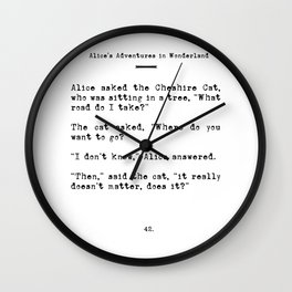 Travel Quote for Wanderers Wall Clock