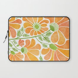 Happy California Poppies / hand drawn flowers Laptop Sleeve