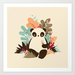 Flower Panda Art Print