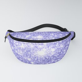 Lavender Periwinkle Sparkle Stars Fanny Pack